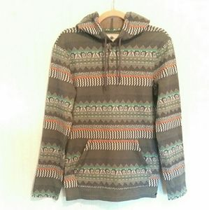 """On the Byas PacSun """"Aztec Tribal"""" Henley Hoodie S"""